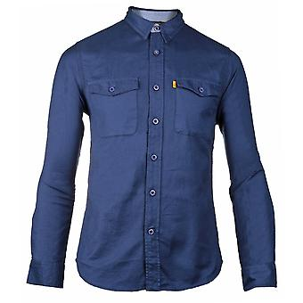 CAT Lifestyle Mens 2611093 Tango Long Sleeve Shirt Blauw