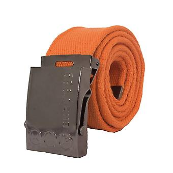 Mens Orange Canvas Belt | Enzo Designer Menswear