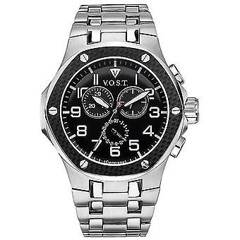 V.O.S.T. Germany V 100.007 Carbon Chronograph men's Watch 44mm