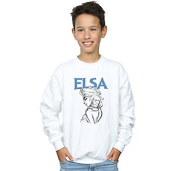 Disney Boys Frozen Elsa Profile Sketch Sweatshirt