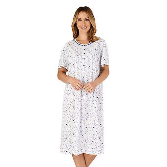 Slenderella ND4100 Mujeres's Jersey Floral Cotton Nightdress