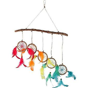 Coloured Dream Catcher Hanger Wood