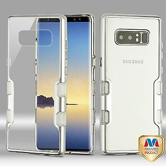 MYBAT Metallic Silver/Transparent Clear TUFF Panoview Hybrid Protector Cover pour Galaxy Note 8