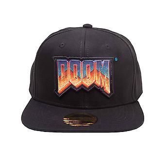 Doom Baseball Cap classic Logo new Official gaming Black Snapback