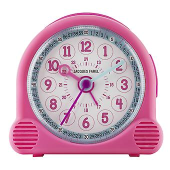 JACQUES FAREL Children's Alarm Clock Alarm Clock Happy Analog Quartz Girl ACL 01 Pink