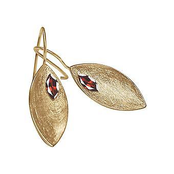 GEMSHINE dame øreringe i solid 925 sølv, forgyldt eller Rose-Garnet rød