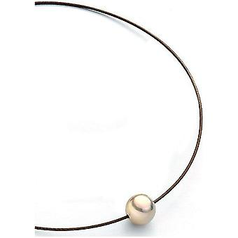 Luna-Pearls Beads Choker Freshwater Pearls 13-14 mm Steel 3001237