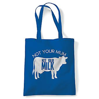 Nicht Ihre Milch Tote | Vegan Lifestyle Save Tiere Kein Fleisch Milch frei | Wiederverwendbare Shopping Baumwolle Leinwand lang behandelt natürliche Shopper Eco-Friendly Fashion