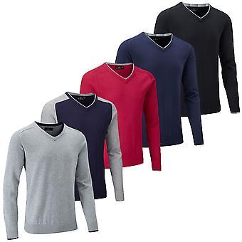Stuburt Mens Vapour Casual V Neck Sweater Lightweight Soft Golf Pullover