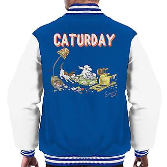 Simon's Cat Caturday Men's Varsity Jacket