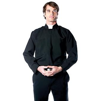 Priest Deluxe Father Pastor Vicar Preacher Religious Mens Costume Shirts Top OS