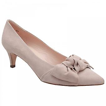 Peter Kaiser Carry Beige Suede Low Heel Suede Court Shoe With Bow