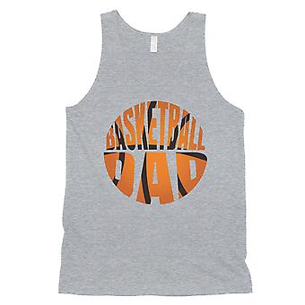 Basketball Dad Mens Grey Inspirational Father's Day Sleeveless Top