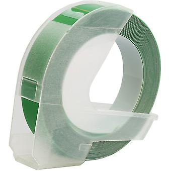 Prestige kaseta™ s0898160 biały na zielonych taśmach wytłaczających (9mm x 3m) kompatybilnych z dymo s0717930 omega home & s0717900 junior płaskowyże