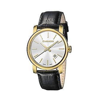 Wenger Mens Quartz Analog leather strap 01.1041.119