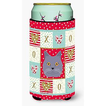 British Shorthair Cat Tall Boy Beverage Insulator Hugger