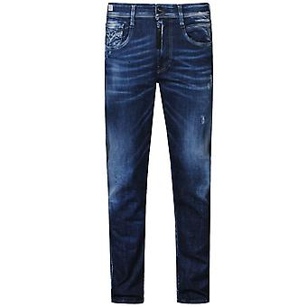 Replay Maestro Distressed Denim Jeans Blue