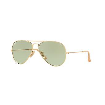 راي بان الطيار RB3025 9064/4C الذهب / Photochromic النظارات الشمسية الخضراء