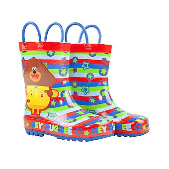 Hey Duggee Boys Wellies Children's Wellington Carry Handle Snow Boots