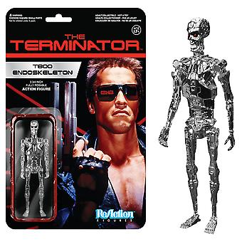 Terminator T-800 Endoskel Chrome ReAction Figure