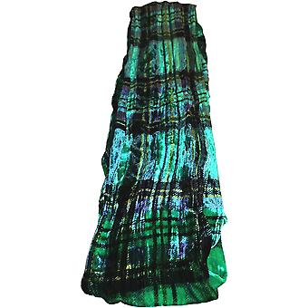 Tartan Silk Velvet Collection Scarf by Ladycrow Scotland - Jade