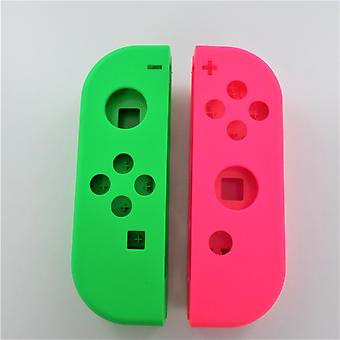 Replacement housing shell left & right for nintendo switch joy-con controllers oem - green & pink | zedlabz