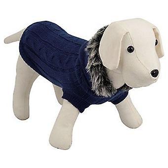Nayeco собака с капюшоном свитер синий 25 см (собаки, Одежда для собак, свитера и толстовки)