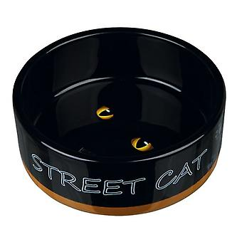 Trixie Street Cat Ceramic Feeder (Cats , Bowls, Dispensers & Containers , Bowls)