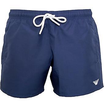 Emporio Armani Eagle Logo Classic Swim Shorts, Cobalt Blue