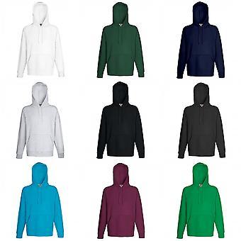 Fruit de la Loom Mens Lightweight Hooded Sweatshirt / Hoodie (240 g/m²)