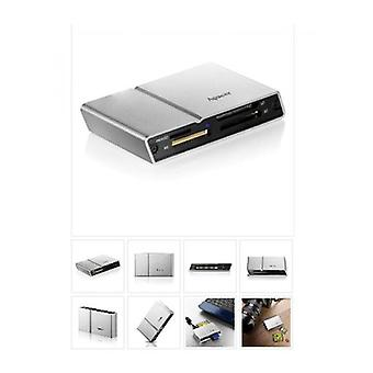 Apacer Megasteno Am404 External Usb 2 Card Reader Silver Aluminium