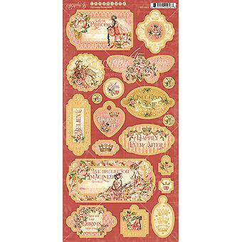 "Princess Chipboard Die - Cuts 6""X12"" Sheet - Decorative & Journaling"