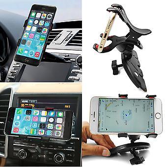 Universal 360 'rotation de voiture cd fente gps clip porte-clés pour téléphone cellulaire mobile