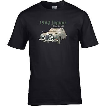 Jaguar S-Type 3.8 Classic - Car Motor - DTG Printed T-Shirt