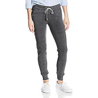 النساء البديلة & أبوس؛s Eco-Fleece سليم صالح عداء بانت، أسود،، أسود، حجم X-Large