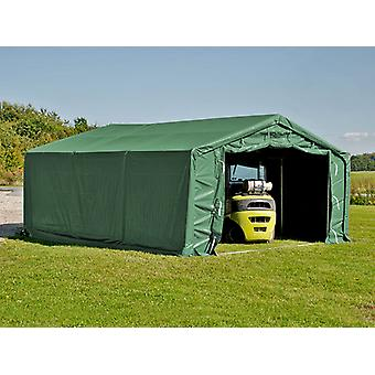 Storage shelter PRO 7x7x3.8 m PVC w/ skylight, Green