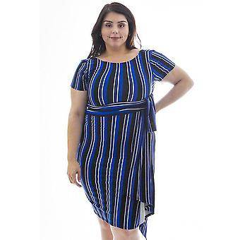 Midi length silhouette short sleeve dress