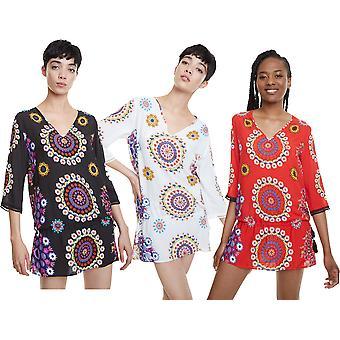 Desigual Women's Manly Mandala Print  Beach Dress 3/4 Sleeve