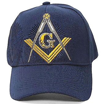 Embroidered masonic shadow baseball cap