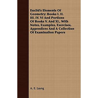 Euclids Elements Of Geometry Books I. II. III. IV. VI And Portions Of Books V. And XI. With Notes Examples Exercises Appendices And A Collection Of Examination Papers by Layng & A. E.
