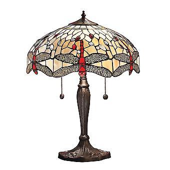 Lâmpada de mesa libélula médio estilo Tiffany - interiores 64085 1900