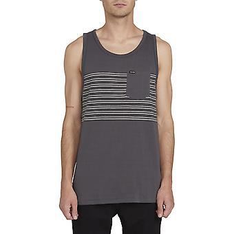 Volcom Forzee Sleeveless T-Shirt in Dark Charcoal