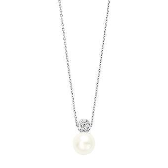 Amor 925 argento Rotonda Rotonda Finta perla bianco Cristallo