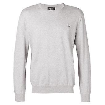 Ralph Lauren Ezcr012009 Men's Grey Cotton Sweater