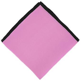 Michelsons of London Shoestring Border Handkerchief - Pink/Black