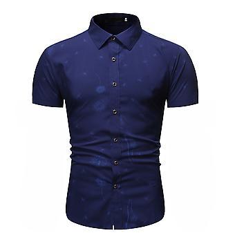 Allthemen Men's Breathable Lightweight Dandelion Printed Short Shirt