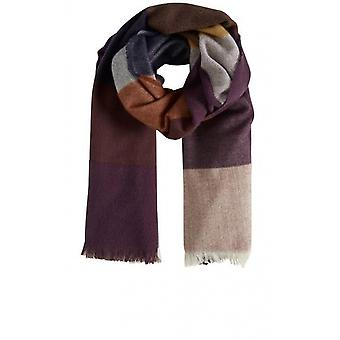 b.young Dark Copper Check Scarf