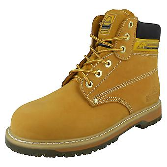 Mens Groundwork Oil Resistant Safety Boots With Steel Toe Cap SK21