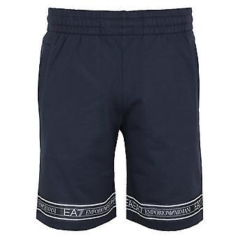 Ea7 emporio armani men's taped navy shorts