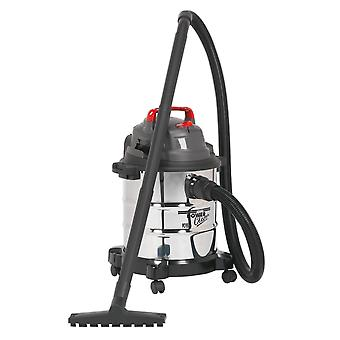 Sealey Pc195Sd Vacuum Cleaner märkä & kuiva 20Ltr 1250W teräksinen rumpu